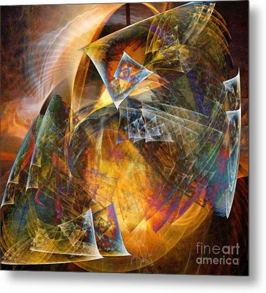 Between The Worlds 12 Metal Print by Helene Kippert