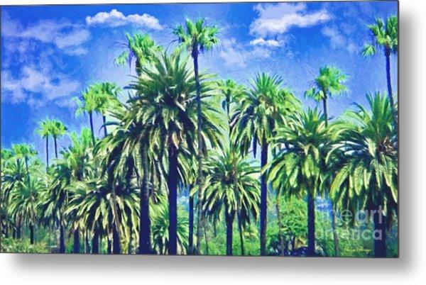 Beverly Hills Palms Metal Print