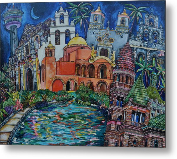 Bexar County Missions Metal Print