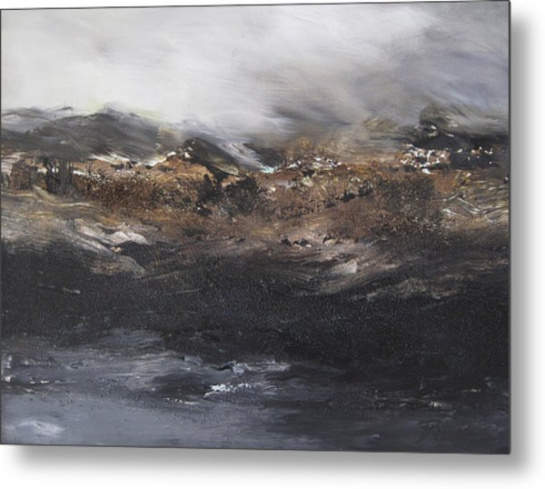 Beyond The Cliffs Metal Print