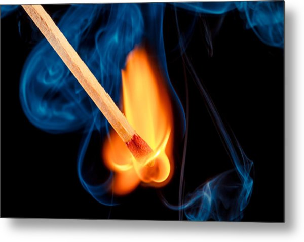 Beyond The Flame Metal Print