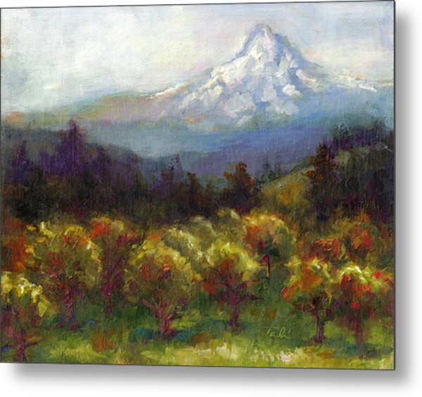 Beyond The Orchards Metal Print