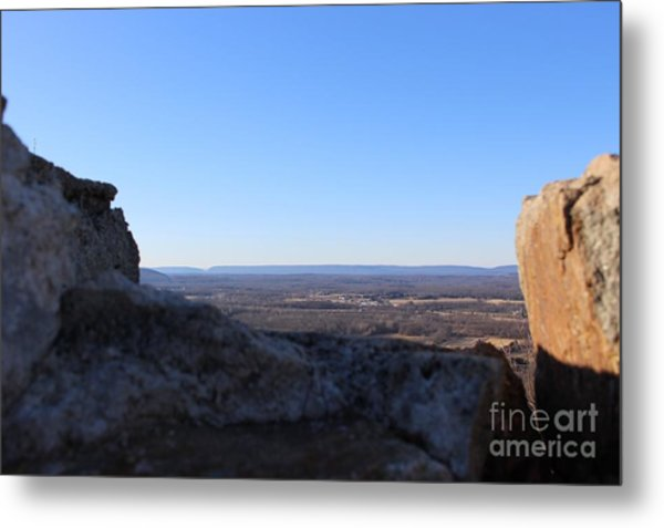 Beyond The Wall Metal Print