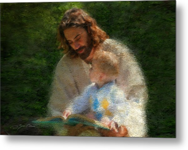 Metal Print featuring the painting Bible Stories by Greg Olsen