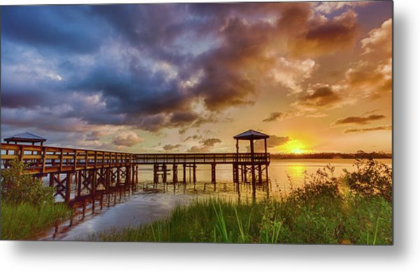 Bicentennial Sunset Metal Print