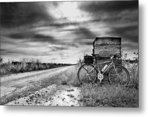 Bicycle Break Metal Print