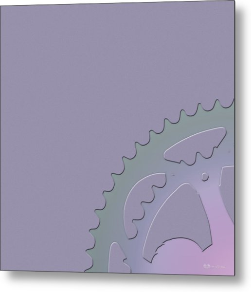 Bicycle Chain Ring - 1 Of 4 Metal Print
