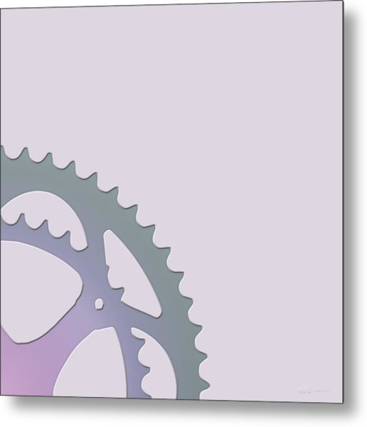 Bicycle Chain Ring - 2 Of 4 Metal Print