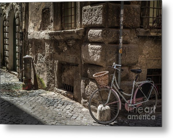 Bicycle In Rome, Italy Metal Print