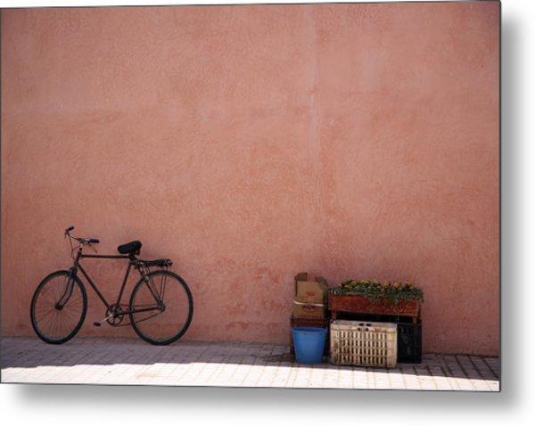 Bicycle Marrakech  Metal Print by Pauline Cutler