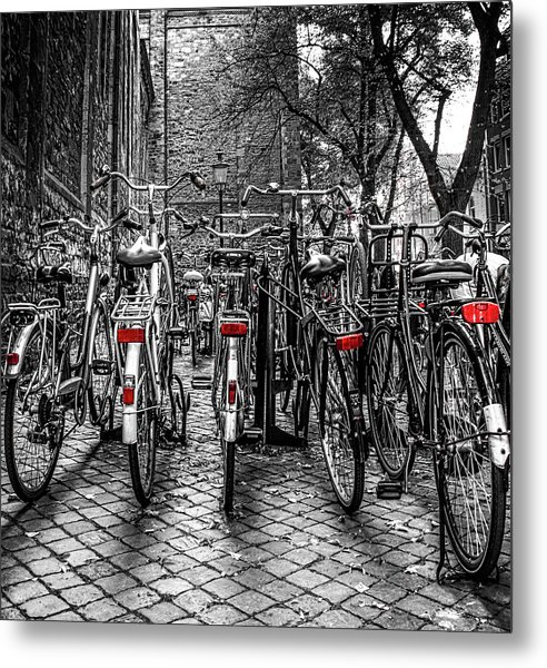 Bicycle Park Metal Print