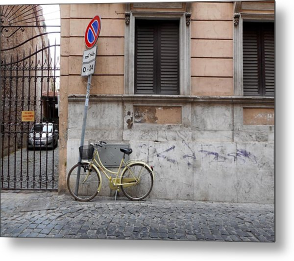 Bicycle Thief Metal Print by Michelle Barone