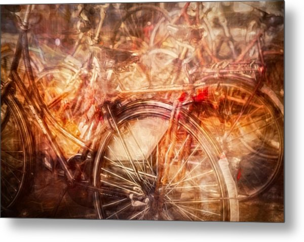 Bicycles In Amsterdam Metal Print