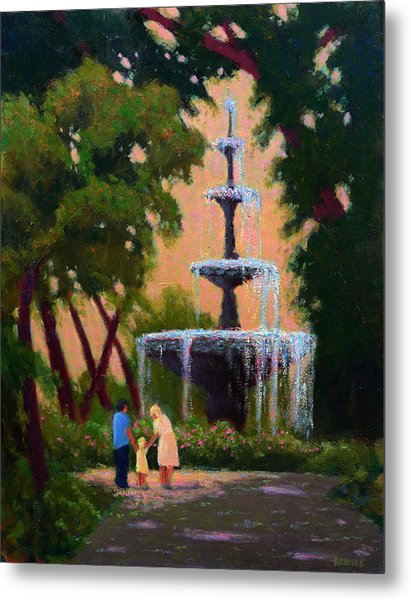 Bienville Square Fountain Metal Print
