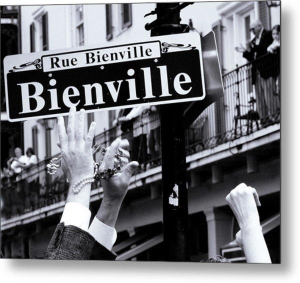 Bienville Street In New Orleans Metal Print by Ray Devlin