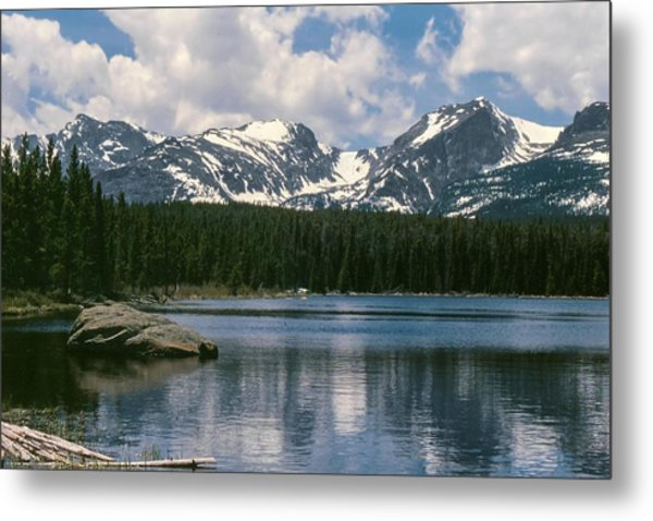 Bierstadt Lake Hallett And Otis Peaks Rocky  Mountain National Park Metal Print