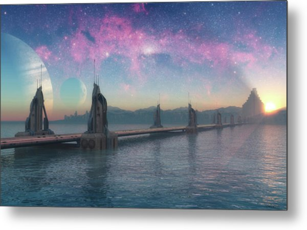 Bifrost Bridge Metal Print