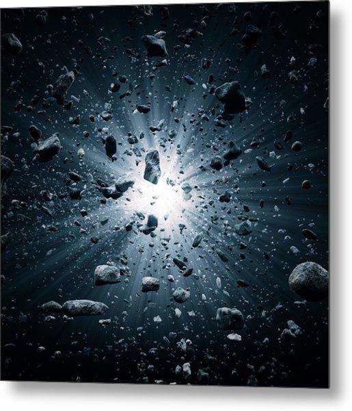 Big Bang Explosion In Space Metal Print