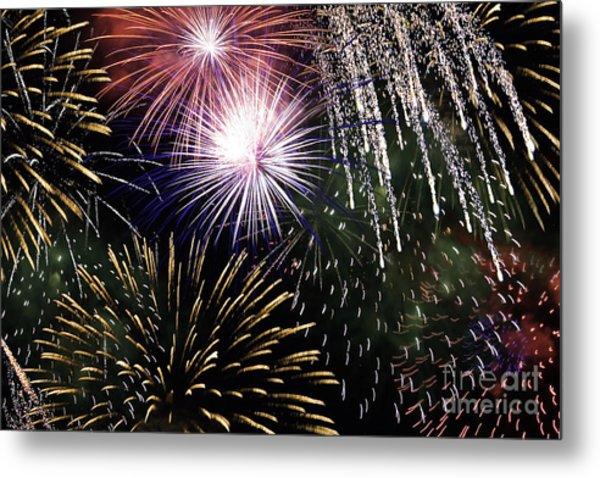 Big Bang Fireworks Metal Print