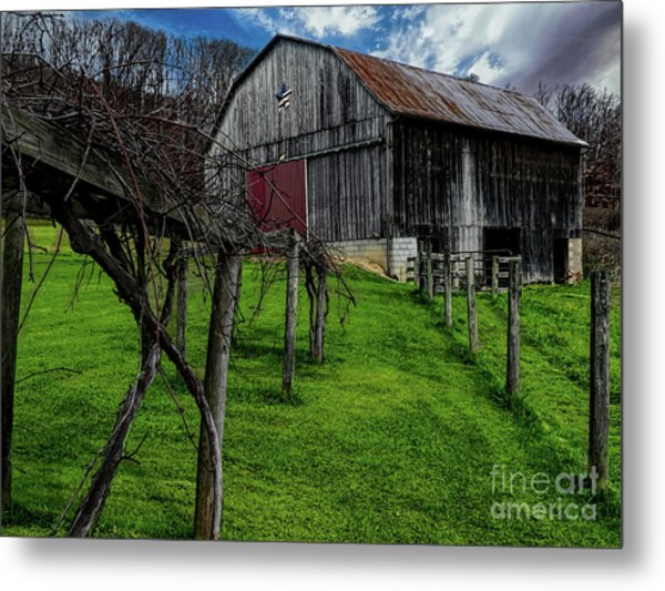 Big Barn Metal Print by Elijah Knight