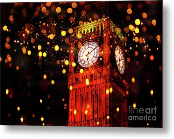 Big Ben Aglow Metal Print