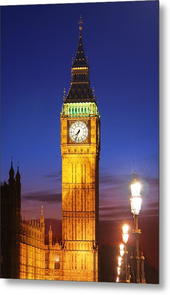Big Ben At Night Metal Print by Dan Breckwoldt