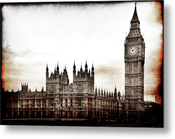 Metal Print featuring the photograph Big Bend And The Palace Of Westminster by Jennifer Wright