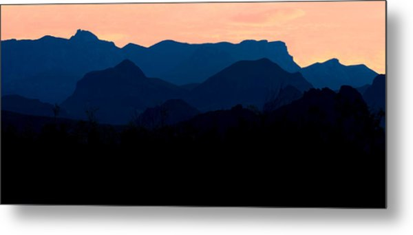 Big Bend Orange Blue Layers Metal Print