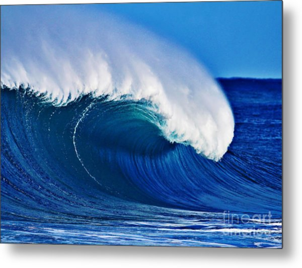 Big Blue Wave Metal Print