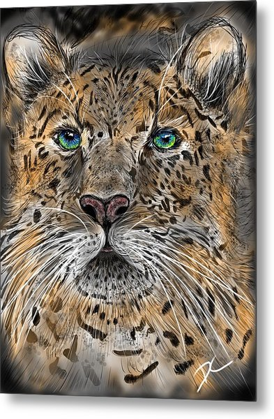 Metal Print featuring the digital art Big Cat by Darren Cannell
