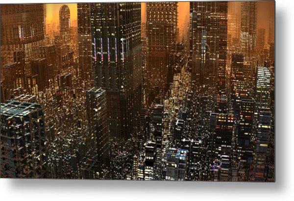 Big City Sunset Metal Print