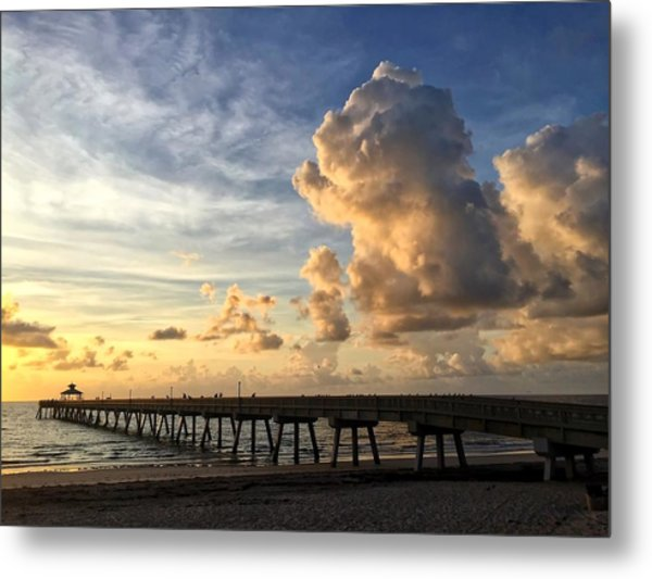 Big Cloud And The Pier, Metal Print