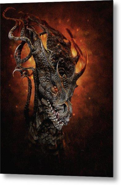 Metal Print featuring the digital art Big Dragon by Uwe Jarling