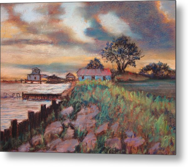 Big Lake Sunset Metal Print by Anne Dentler