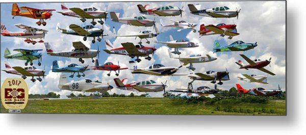 Big Muddy Fly-by Collage Metal Print