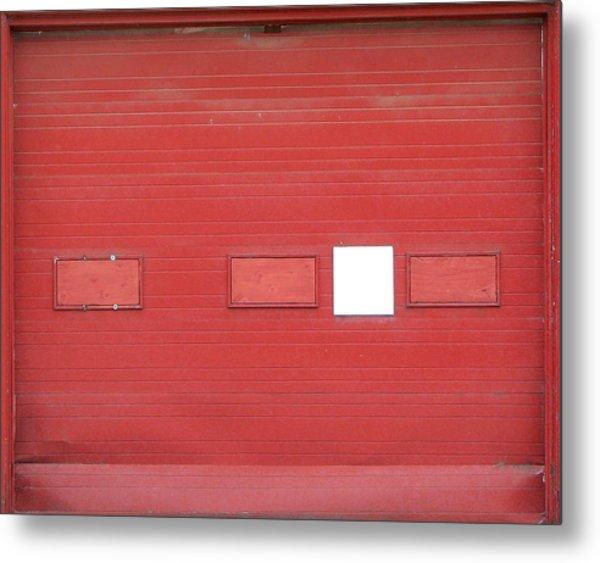 Big Red Door With Accent Metal Print