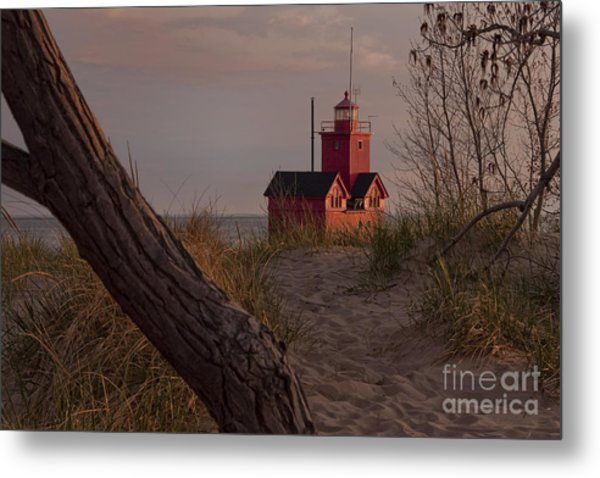 Big Red Lighthouse Visit Www.angeliniphoto.com For More Metal Print by Mary Angelini