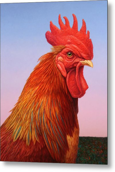 Big Red Rooster Metal Print