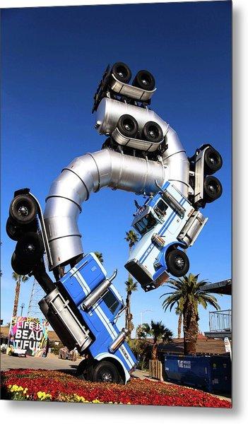 Big Rig Jig Balancing In Vegas Metal Print