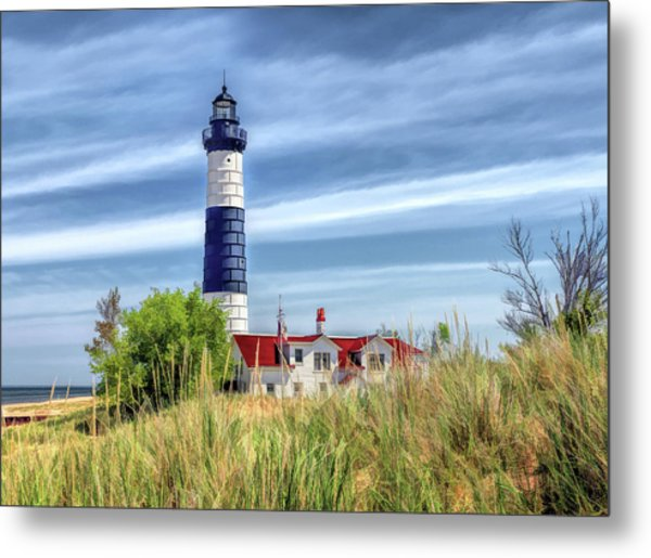 Metal Print featuring the painting Big Sable Point by Christopher Arndt