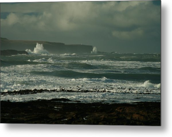 Big Sea. Slope Point Metal Print by Terry Perham