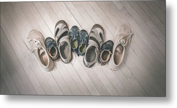 Big Shoes To Fill Metal Print