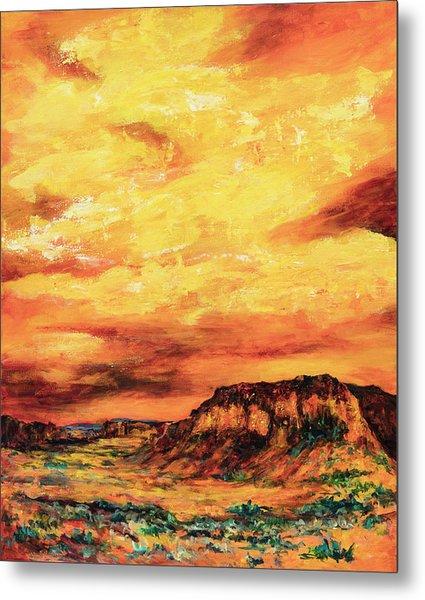 Big Sky At Capital Reef Metal Print