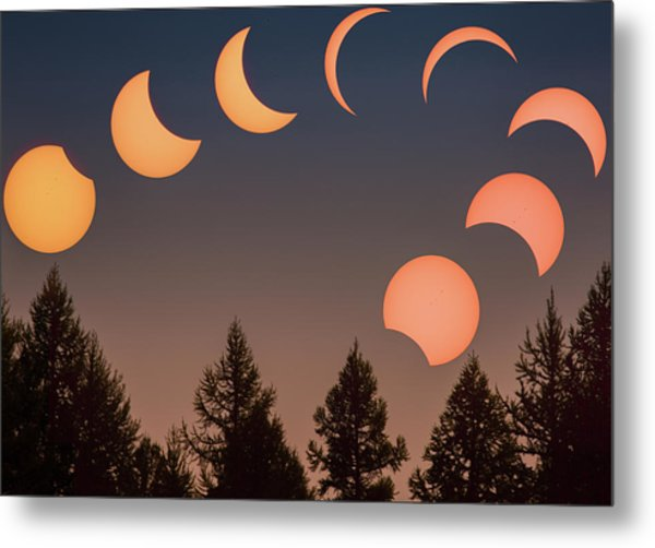Metal Print featuring the photograph Big Sky Solar Eclipse // Whitefish, Montana  by Nicholas Parker
