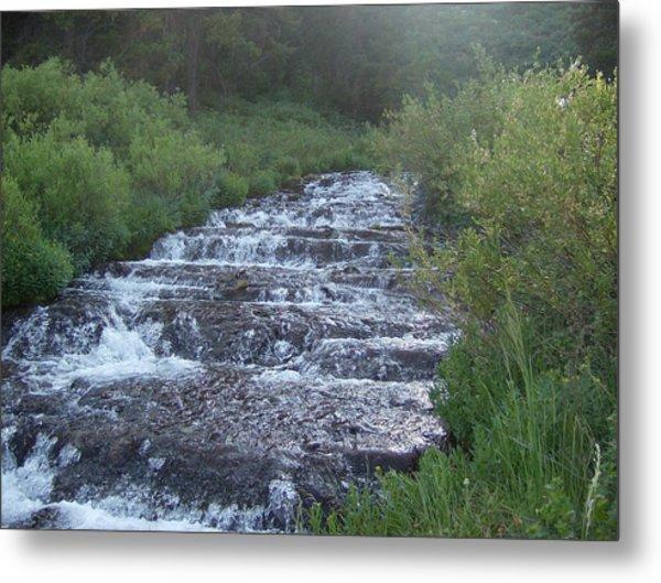 Big Springs Waterfall Metal Print by Susan Pedrini