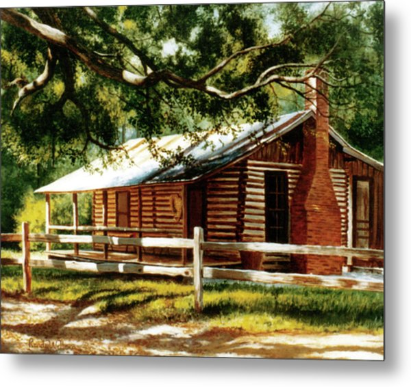 Big Thicket Information Center_the Staley Cabin Metal Print
