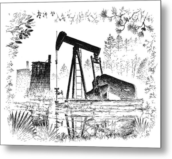 Big Thicket Oilfield Metal Print