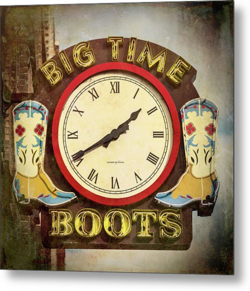 Big Time Boots - Nashville Metal Print
