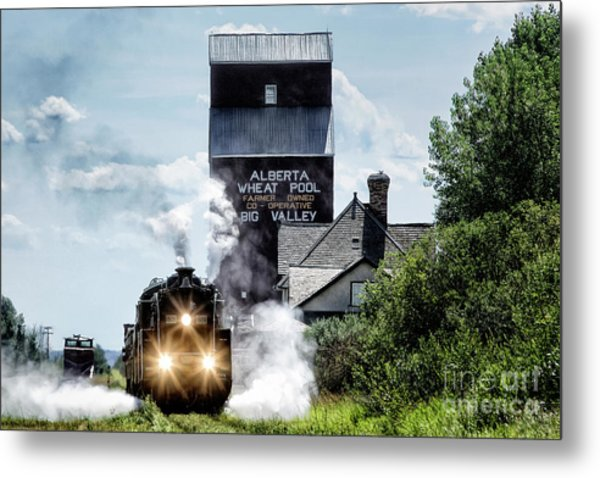 Big Valley Steam Metal Print