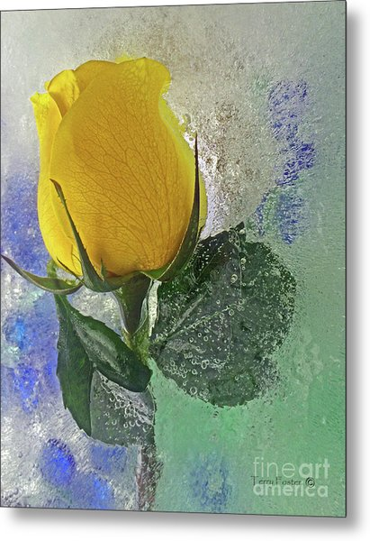 Big Yellow Metal Print